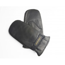 Black Leather Curling Mitts